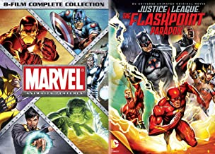 Marvel Universe Vs. DC Universe Animated Full Feature Bundle - Marvel Animated Features: 8-Film Complete Collection & Justice League The Flashpoint Paradox 9- Movie Collection