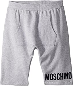 Moschino Kids - Sweatshorts w/ Front Pocket & Logo Detail (Big Kids)