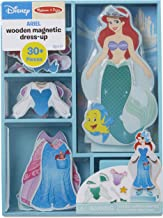Melissa & Doug Disney Ariel Magnetic Dress-Up Wooden Doll Pretend Play Set (30+ Pieces, Great Gift for Girls and Boys - Best for 3, 4, 5, and 6 Year Olds)