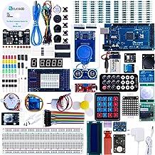 ELEGOO Conjunto Mas Completo y Avanzado de Iniciación Compatible con Arduino IDE Mega 2560 con Guías Tutorial en Español y Conjunto con Placa Controladora Mega 2560 R3, Servomotor, Motor Paso a Paso