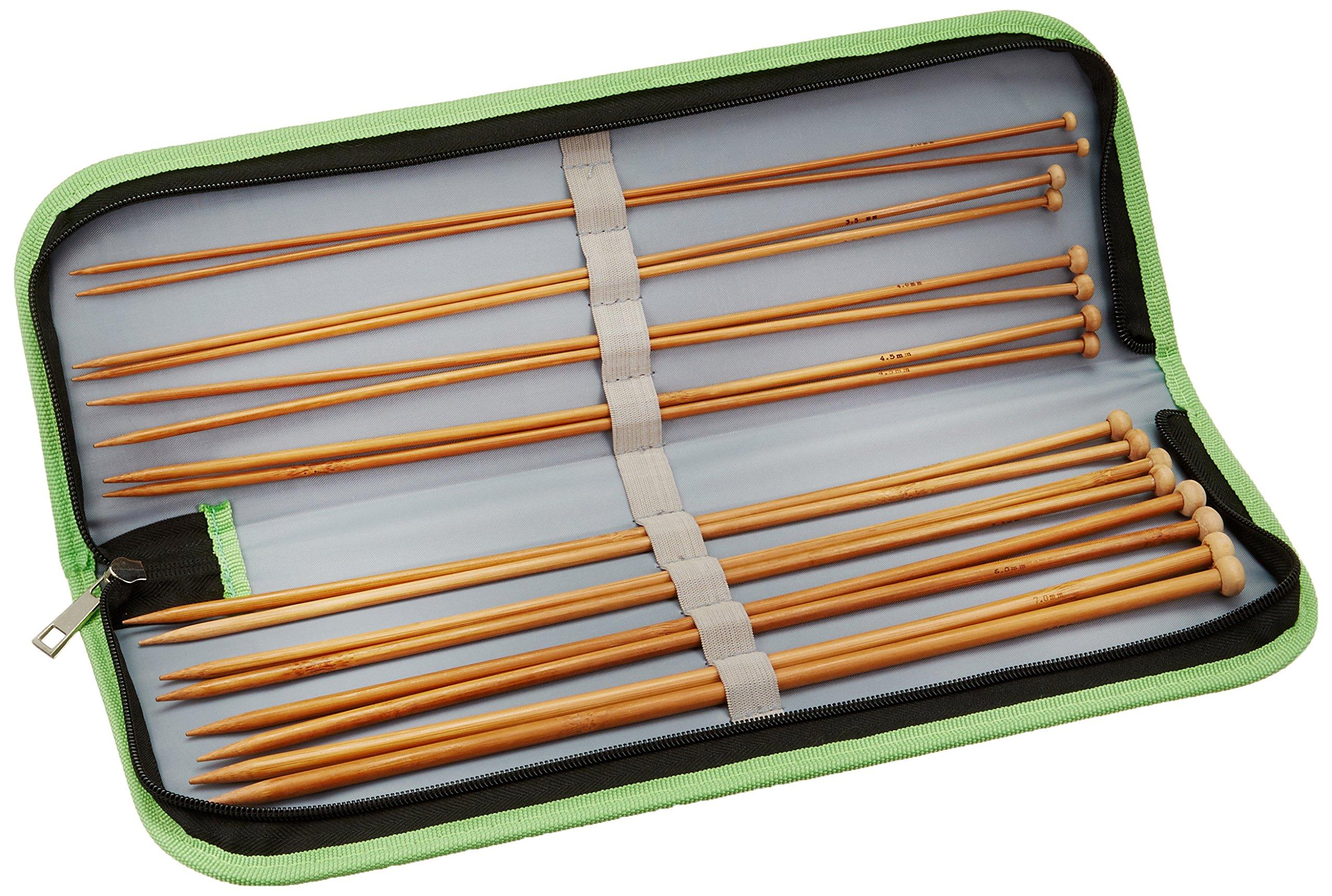 Kole Las importaciones OS346 bambú Agujas de Tejer, Juego en Estuche de Almacenamiento, Multicolor: Amazon.es: Hogar