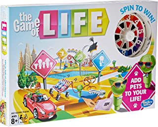 The Game of Life - Add Pets to Your Life - 2 to 4 Players - Family Board Games - Ages 8+