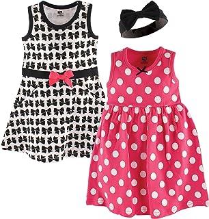 Hudson Baby Baby Girls' 3 Piece Dress and Headband Set
