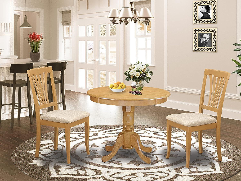 5 ☆ popular East-West Furniture ANAV3-OAK-C modern dining set- Tampa Mall 2 Fanta table