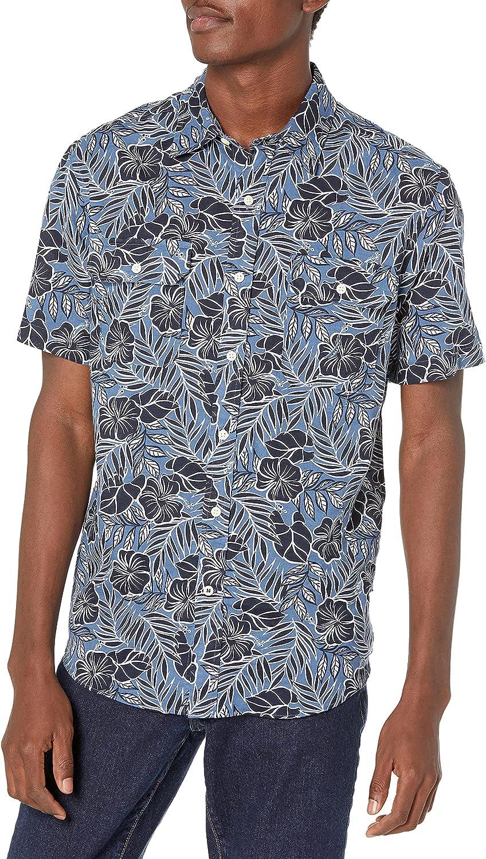 Nautica Men's Floral Print Linen Shirt