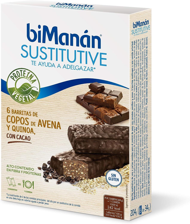 biManán - Vegetal - Sustitutivos para Adelgazar - Barritas ...
