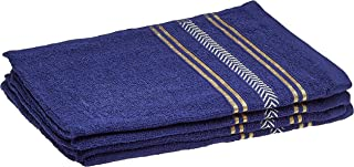Panache Exports Regal Hand Towel Set, Navy Blue, 38 cm x 58 cm, PEREGHAN01, 4 Pieces