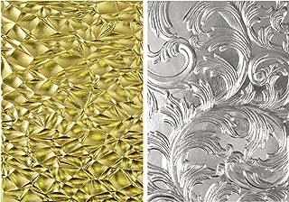 Tim Holtz Sizzix 3D Texture Fades Embossing Folders - Crackle and Elegant - 2 Item Bundle