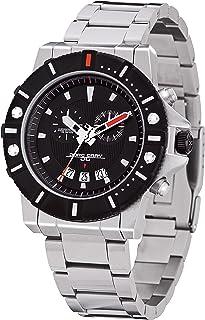 JORG GRAY - JG9500-11 - Reloj cronógrafo de Cuarzo para Hombre, Correa de Acero Inoxidable Color Plateado