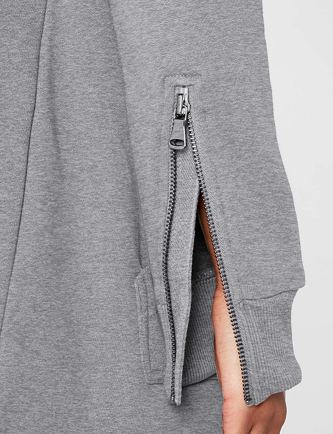 Urban Classics Damen Ladies Parka Cardigan Sweater Grey