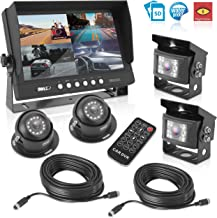 """Rear View Backup Camera System - DVR Parking Reverse Car Truck Vehicle Dual Rearview Back Up Kit w/ 9"""" LCD Monitor, Night ..."""