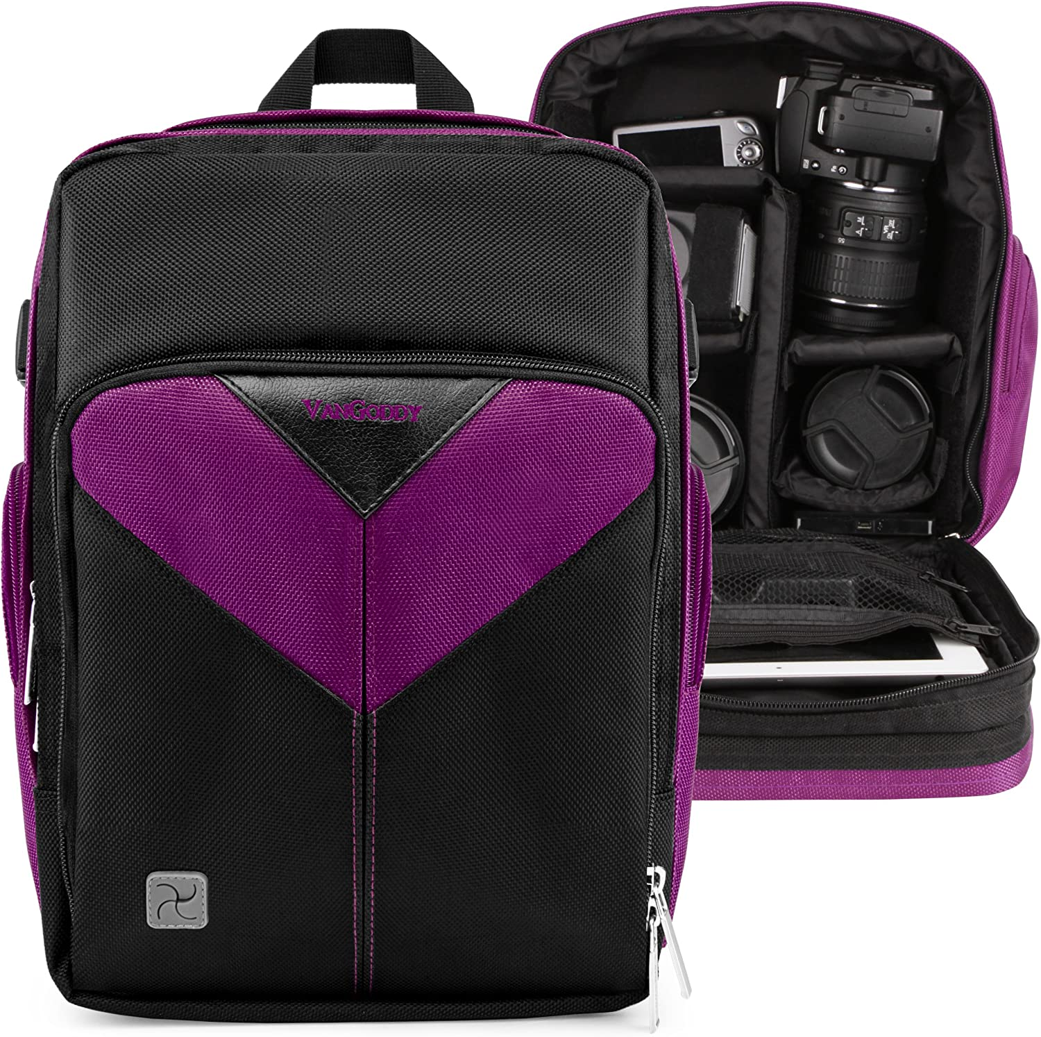 Photographer Camera and Lens Bag Brand new Max 56% OFF for Purple Nikon D5600 D5500