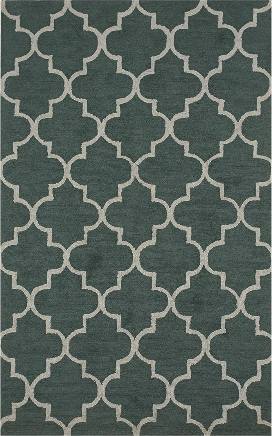 EORC ME2GN5X7 Hand-Tufted Wool Moroccan 5' Rug Green Inventory cleanup selling sale 7' x Cheap mail order sales