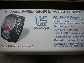 2-Way FRS/GMRS Wristwatch Radio -- Up to 1.5 Mile Range