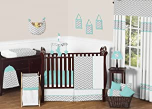 turquoise and gray baby bedding