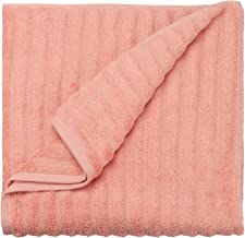 Ein Sof Pure Cotton Bath Towels(75x150 cms), Zero Twist | Super Absorbent | 500 GSM | Ribbed Design (Silky Peach, Pack of 1)