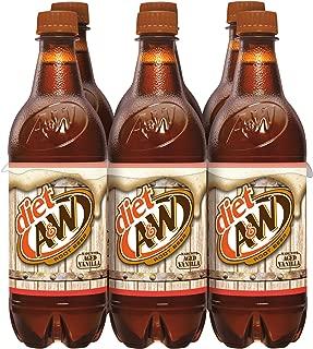 Diet A&W Root Beer Soda, .5 Liter Bottle, 6 Count