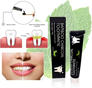 Activated Charcoal Toothpaste For Teeth Whitening with Bamboo Charcoal, Peppermint Extract, Premium Quality Black Toothpaste, 100% Money Back Guarantee, Free Shipping On All Orders…