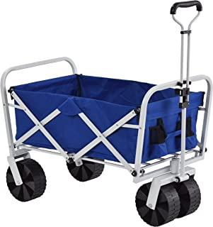 Muscle Carts FBW3621-BLUE FBW3621-Bluecollapsible Folding Utility Wagon, Camo, 21