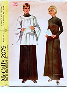 McCall's 2079 Sewing Pattern Misses Surplice and Cassock, Small 8-10 (31.5-32.5)