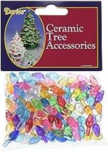 Darice Ceramic Christmas Tree Accessories Small Twist Pin Multi Color, 0.5 Inch