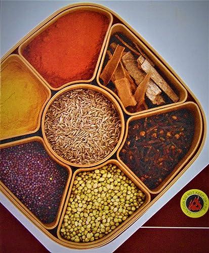 MIR9 MIR Woven Sq Masala Rangoli Box (Dabba) - 7 Sections, 700ml, Assorted Colour (Multicolour). product image