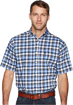 Athletic Plaid Short Sleeve
