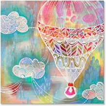 Wheatpaste Art Collective Perfect Day for a Balloon Ride 10x10 Canvas Wall Art, by Stephanie Corfee