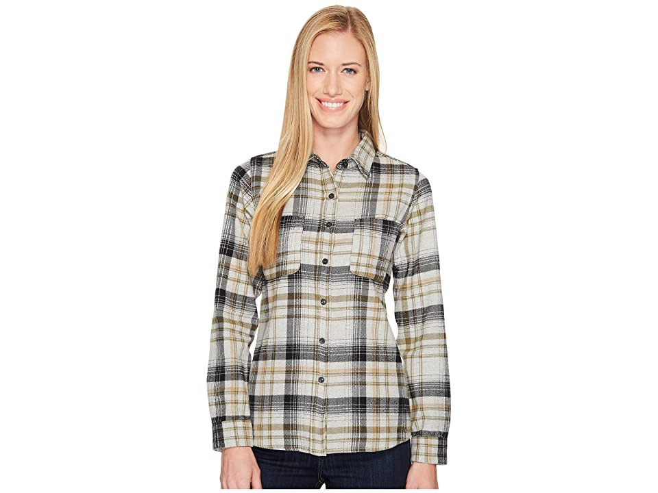 The North Face Long Sleeve Willow Creek Flannel (TNF Light Grey Heather Plaid) Women