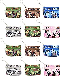 6 Pack Coin Purse, Small Zippered Keychain Wallet, Cash Holder Change Pouch for Women Girls Gift