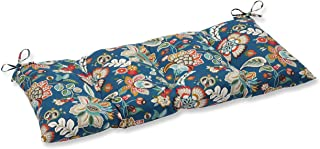 """Pillow Perfect Indoor/Outdoor Telfair Peacock Swing/Bench Cushion,Blue,44"""" x 18.5"""""""