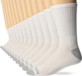 Fruit of the Loom Men's Dual Defense Crew Socks 12 Pair