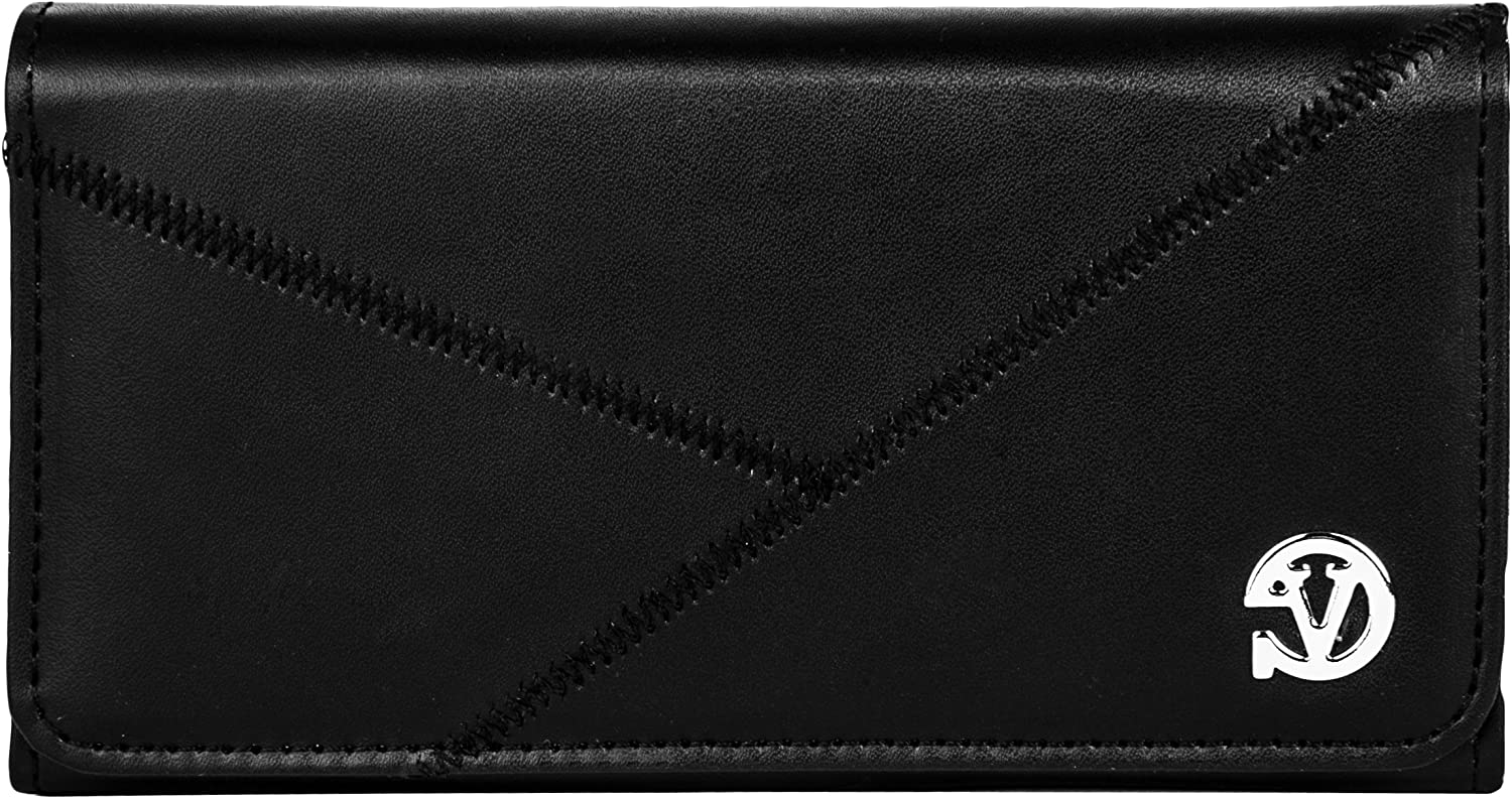VanGoddy Stitch Design Large 6.25-inch Horizontal Cell Phone Holster Carrying Case Pouch Suitable for 6