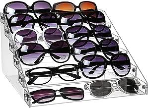 MyGift 6-Tier Clear Acrylic Sunglasses Retail Display Rack, Salon Nail Polish Bottle Stand