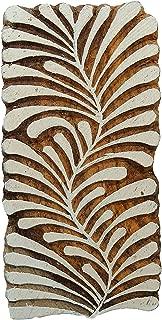 Handcarved Printing Block Wooden Texile Stamp Leaf Brown Stamp Blockprint
