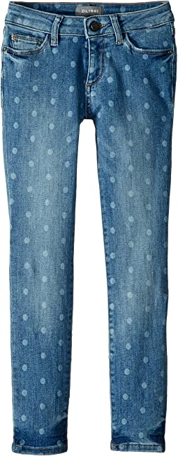Chloe Mid Wash Skinny with Laser Print Polka Dots in Ashton (Big Kids)
