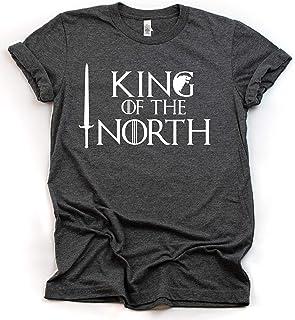 King of the North T-Shirt, Stark Jon Snow GOT Thrones Shirt, Long Sleeve, Game Short Sleeve, V-Neck, Sweatshirt, Hoodie