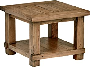 """Amazon Brand – Stone & Beam Ferndale Rustic Reclaimed Pine Side End Table, 24""""W, Sandstone"""