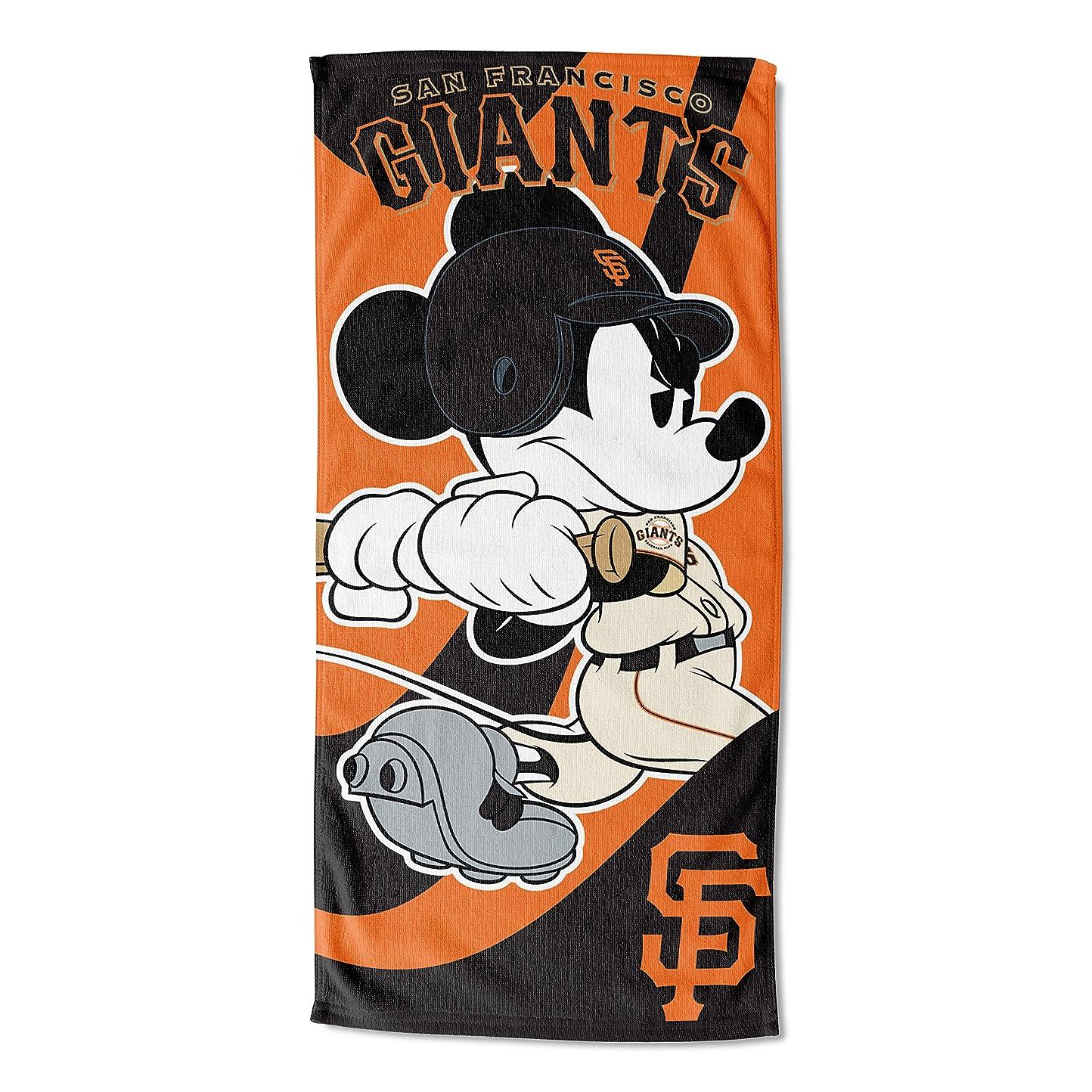 酔っ払い発揮するモーターMLB San Francisco Giantsディズニーワインドアップミッキービーチタオル、28?x 58-inch