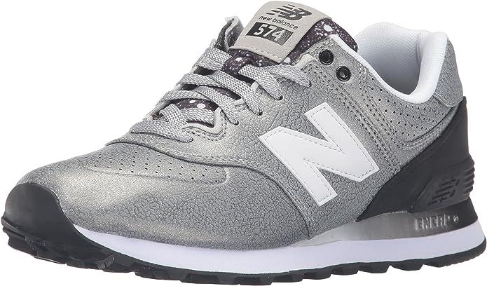 New Balance 574, Sneaker Donna, Argento (Silver/Black), 4 UK EU ...