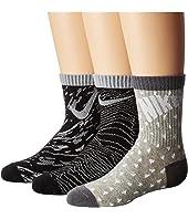 Nike Kids 3-Pair Pack Pattern Crew Socks (Toddler)