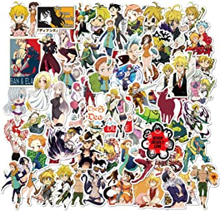 100PCS Seven Deadly Sins Stickers Anime Vinyl Stickers Waterproof Stickers Skateboard Phone Stickers for Kids Teens Adults...