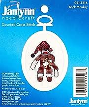 The Janlynn Corporation Ready, Set.Stitch Sock Monkey Counted Cross Stitch Kit with Frame