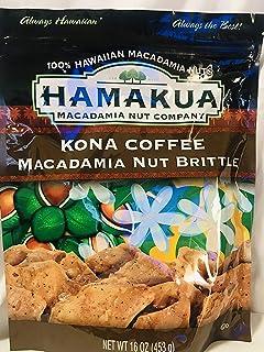 Kona Coffee Macadamia Nut Brittle 16 Oz Bag - Made in Hawaii