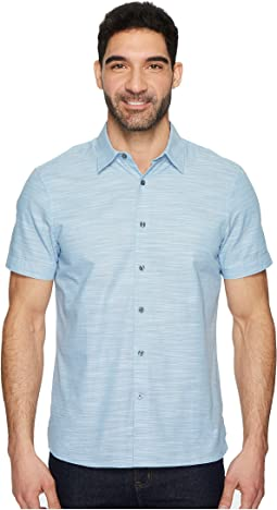 Perry Ellis - Short Sleeve Solid Slub Texture Shirt