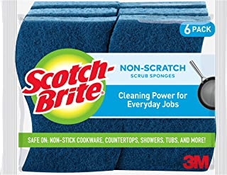 Scotch-Brite Non-Scratch Scrub Sponges, 6 Scrub Sponges, Lasts 50% Longer Than The Leading National Value