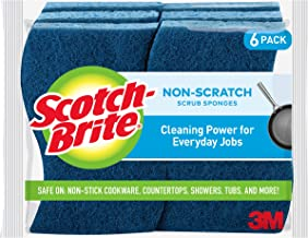 Scotch-Brite Non-Scratch Scrub Sponges, Cleans Fast without Scratching, Stands Up to Stuck-on Grime, 6 Scrub Sponges