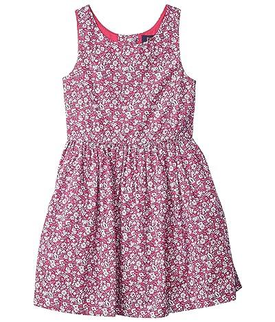 Polo Ralph Lauren Kids Floral Cotton Poplin Dress (Little Kids) (Pink Multi) Girl