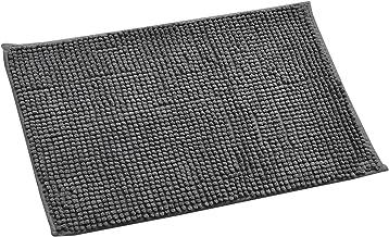 Yellow Weaves Modern Modern Bath Mat (Grey, Microfiber, 40 X 60 cm)