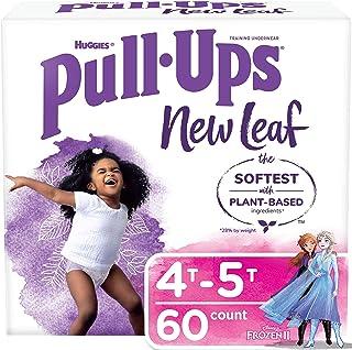 Pull-Ups New Leaf Girls' Potty Training Pants Training Underwear, 4T-5T, 60 Ct